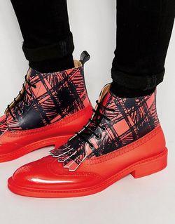 Ботинки-Броги Красный Vivienne Westwood                                                                                                              красный цвет