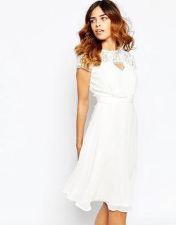 Приталенное Платье Миди С Кружевным Топом Elise Ryan                                                                                                              Кремовый 2 812,49 Ру цвет