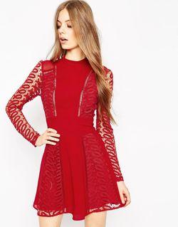 Платье Premium Красный Asos                                                                                                              красный цвет