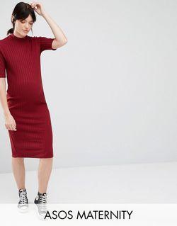 Облегающее Платье Миди Для Беременных В Рубчик ASOS Maternity                                                                                                              None цвет