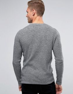 Premium Textured Knit Jack & Jones                                                                                                              серый цвет