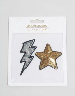 Накладки-Стикеры В Виде Звезды И Молнии Skinnydip                                                                                                              многоцветный цвет