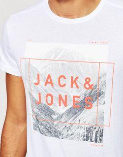 Футболка С Принтом Гор Jack Jones Jack & Jones                                                                                                              белый цвет