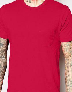 Футболка С Карманом YMC                                                                                                              Красный цвет