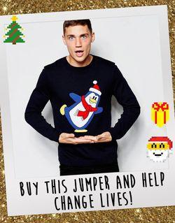 Рождественский Свитер В Поддержку Фонда Темно-Синий Asos                                                                                                              синий цвет