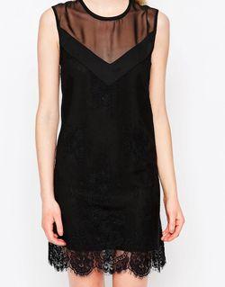 Цельнокройное Платье С Кружевной Отделкой Rogers Jovonna                                                                                                              черный цвет