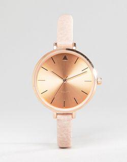Часы На Тонком Ремешке С Большим Циферблатом Asos                                                                                                              Телесный цвет
