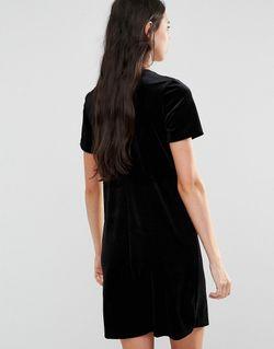 Бархатное Цельнокройное Платье Glamorous Tall                                                                                                              None цвет