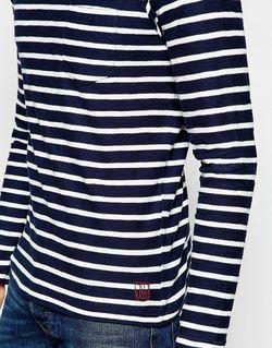 Лонгслив В Полоску Jack Jones Jack & Jones                                                                                                              Navy Blazer цвет