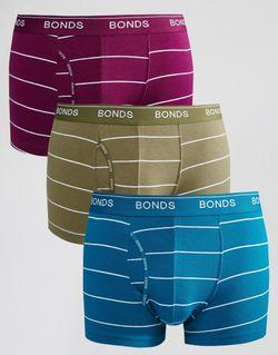Набор Из 3 Боксеровбрифов В Полоску Мульти Bonds                                                                                                              многоцветный цвет