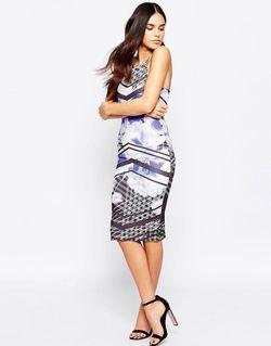 Облегающее Платье С Цветочным Принтом Мульти Lipsy                                                                                                              многоцветный цвет