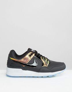 Черные Кроссовки С Голографическим Эффектом Air Pegasus Nike                                                                                                              черный цвет