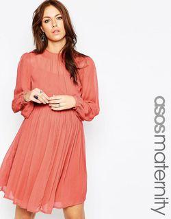 Платье Бэби-Долл Для Будущих Мам Терракотовый ASOS Maternity                                                                                                              Терракотовый цвет