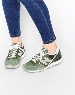 Зеленые Кроссовки Цвета Хаки 996 Зеленый New Balance                                                                                                              зелёный цвет