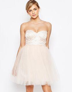 Платье Для Выпускного С Пышной Юбкой Телесный Little Mistress                                                                                                              Телесный цвет