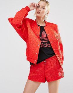 Кружевная Курткапилот Свободного Кроя Originals Ярко-Красный Adidas                                                                                                              красный цвет