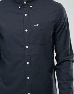 Черная Оксфордская Рубашка Узкого Кроя С Логотипом Hollister                                                                                                              None цвет