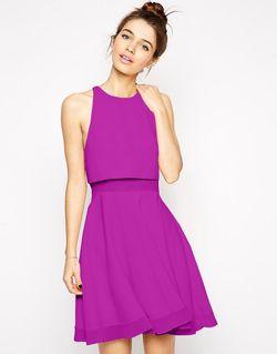 Короткое Приталенное Платье С Плотными И Прозрачными Asos                                                                                                              None цвет