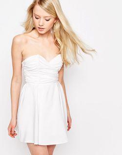 Платье Бэби-Долл Белый Glamorous                                                                                                              белый цвет