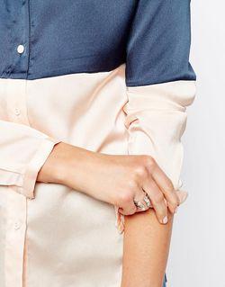 Незамкнутое Кольцо Ограниченной Серии С Жемчугом ASOS Collection                                                                                                              Crystal цвет