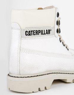 Белые Кожаные Ботинки Footwear Colorado Burnish Brights Cat                                                                                                              Облако цвет