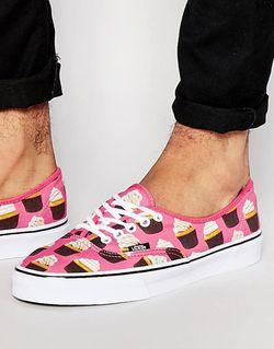 Розовые Кроссовки Late Night Pack Authentic Cupcake Vans                                                                                                              розовый цвет