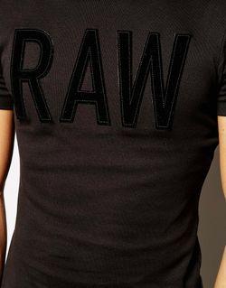 Футболка С Аппликацией Art Raw G-Star G-Star                                                                                                              Черный цвет