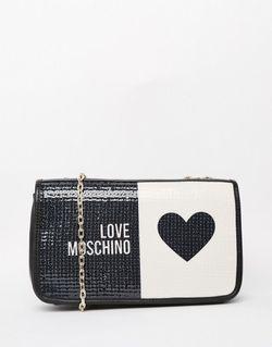 Стеганая Сумка На Плечо С Логотипом Черный Love Moschino                                                                                                              черный цвет