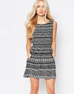 Платье С Принтом Черный Iska                                                                                                              черный цвет