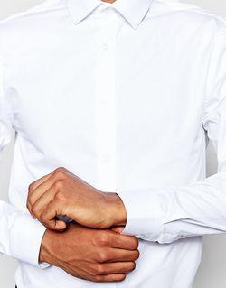 Строгая Рубашка С Длинными Рукавами River Island River Island                                                                                                              белый цвет