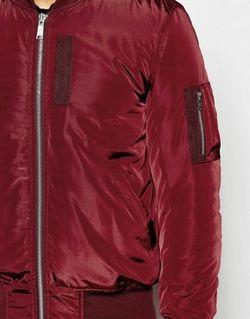 Бордовая Куртка-Пилот С Карманами Ma1 Burgundy Asos                                                                                                              Burgundy цвет