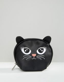 Косметичка С Изображением Кошки Черный Asos                                                                                                              чёрный цвет