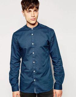 Рубашка С Воротником На Пуговицах Jack Jones Jack & Jones                                                                                                              синий цвет