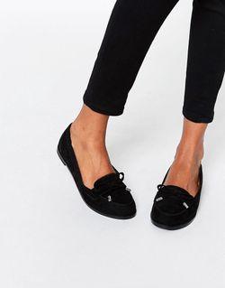 Туфли На Плоской Подошве Monthly Черный Asos                                                                                                              черный цвет