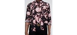 Рубашка Классического Кроя С Шарфом Черный Reclaimed Vintage                                                                                                              чёрный цвет