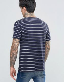 T-Shirt Navy Stripe In Stretch Slim Fit SCOTCH & SODA                                                                                                              None цвет