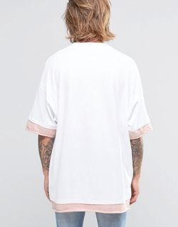 Super Oversized T-Shirt With Contrast Sleeves In Asos                                                                                                              None цвет