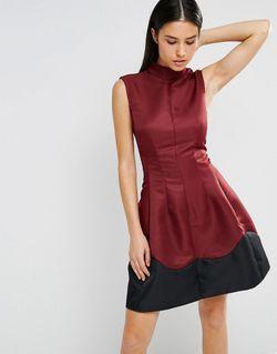 Короткое Приталенное Платье С Отделкой По Подолу AX Paris                                                                                                              None цвет