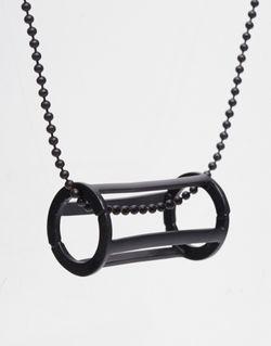 Ожерелье С Геометрическим Дизайном И Круглой Подвеской Asos                                                                                                              чёрный цвет