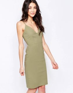 Платье-Футляр Хаки Glamorous                                                                                                              хаки цвет