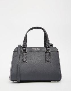 Компактная Сумка Дафл Угольный Calvin Klein                                                                                                              Угольный цвет