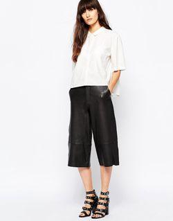 Укороченная Рубашка С Рукавами 3/4 Haly Selected                                                                                                              белый цвет