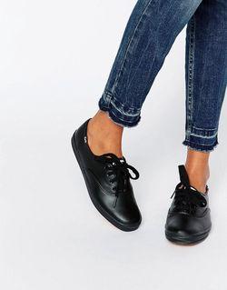 Классические Кожаные Кеды Черный Keds                                                                                                              чёрный цвет