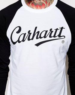 Long Sleeve Raglan League T-Shirt Carhartt                                                                                                              черный цвет