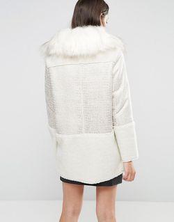 Пальто С Воротником Из Искусственного Меха Glamorous                                                                                                              Кремовый цвет