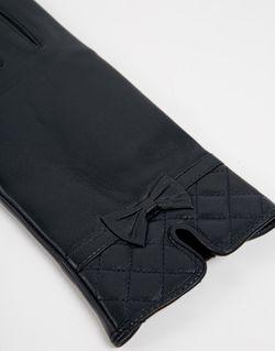Кожаные Перчатки Со Стегаными Манжетами Totes                                                                                                              синий цвет