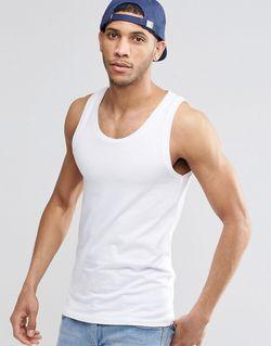 Белая Облегающая Майка Белый Asos                                                                                                              белый цвет