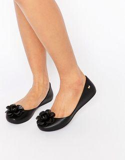 Туфли С Цветком Черный ZAXY                                                                                                              черный цвет