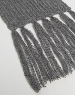 Узкий Темношарф Из Оригинальной Пряжи Asos                                                                                                              серый цвет