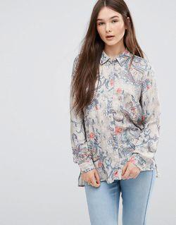 Рубашка С Цветочным Принтом Мульти Only                                                                                                              многоцветный цвет